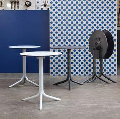 Table ronde / d'intérieur/d'extérieur / contemporaine / en aluminium BREAK by…
