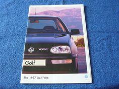 VW Volkswagen Golf VR6 The 1997 Golf VR6 31 Page Brochure