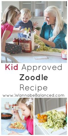 Oodles of Zoodles || how to make zoodles | how to make zucchini noodles | kid friendly meal ideas | healthy meals for kids | fun meals for kids | kid approved healthy meals | homemade zoodle recipe || Wannabe Balanced Mom