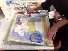 ▶ Geoffrey Wynne, painting flowers in watercolour step by step - Acuarela paso a paso - YouTube