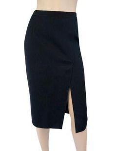 DOLCE & GABBANA Ribbon Waist Wool Pencil Skirt, IT 40 / US 4