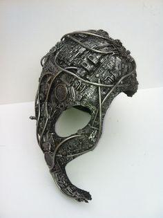 full head techno phantom mask or borg head by richardsymonsart, $160.00