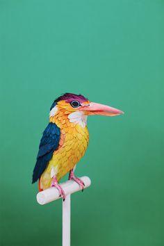 Click for more pics!   Paper Bird Sculptures by Diana Beltran Herrera #paperart