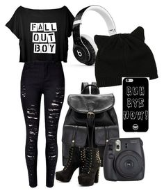 Feeling like wearing black? Well here is the perfect outfit if your not feeling bright!