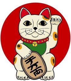 'Lucky Cat' Poster by fnoul Maneki Neko, Lucky Cat Tattoo, Rat Tattoo, Cat Posters, Graphic Posters, Spooky Tattoos, Japanese Tattoo Art, Japanese Prints, Wallpaper Iphone Cute