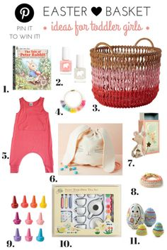Little girls easter basket ideas toddler easter basket spring easter basket ideas for toddler girls giveaway negle Choice Image