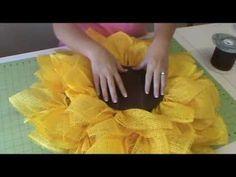 trendy tree wreaths | Trendy Tree Deco Paper Mesh Sunflower Tutorial - using ... | Wreaths