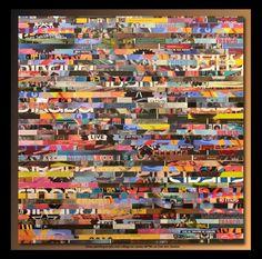 Live Jam Session (Painting),  80x80 cm by TEHOS Tableau de Tehos acrylique et marouflage sur toile 80*80 cm - LIve Jam Session
