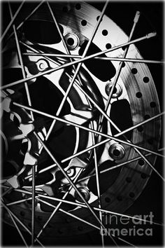 Spokes by Clare Bevan Photography  #blackandwhitephotography #motorcycleparts #clarebevan
