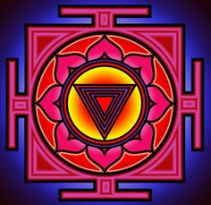 Kali Yantra: Kali represents destruction and creation and is an aspect of the Hindu Divine Mother. The Kali Yantra invites the observer to go about the business of manifestation as play time. Kali keeps evil at bay as we focus upon our creative powers, and live in the joy of creating the lives that bring happiness to ourselves and those around us. When focused upon, the Kali Yantra is said to speed spiritual transformation and allows for quick resolution to problems.  tattoo - Google Search