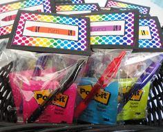 Treat bags for teachers