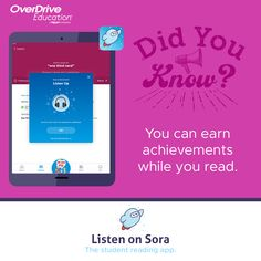 Discover Sora, the student reading app.   Educators can discover all that Sora has to offer with a 60-day free trial and access to 100+ Juvenile and Young Adult titles in three easy steps.