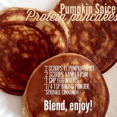 Herbalife pumpkin spice pancakes