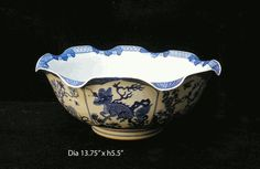 Chinese Hand-draw Blue & White Porcleain Bowl - Golden Lotus Antiques