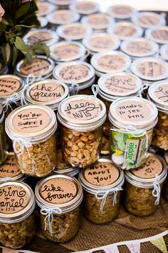 add little notes to guests on the top of wedding favors // photo by KenKienow.com