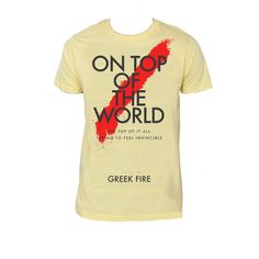 $14.99 • Official Greek Fire Top Of The World Slash Design • 100% Cotton High Quality Soft Fitted Tee