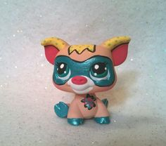 Super Hero Pig * OOAK Custom Hand Painted Littlest Pet Shop #Hasbro
