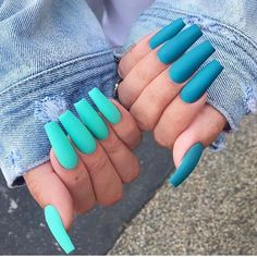 There are many kinds of blue nail art designs, which are also one of the most popular nail colors. In previous articles, we have introduced the art design of Dark Blue Nails, Navy Blue Nails and Blue Sparkle Nails, which are welcomed by women. Summer Acrylic Nails, Best Acrylic Nails, Acrylic Nail Designs, Summer Nails, Bright Nails For Summer, Nail Ideas For Summer, Purple Acrylic Nails, Ombre Nail, Acrylic Colors