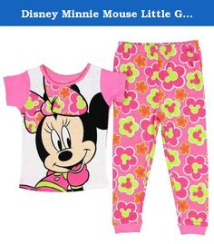 Disney Minnie Mouse Little Girls Cotton Pajama Set Pink Flowers 5T. The iconic ears accented by the bow Minnie Mouse, Minnie to her friends, is the girlfriend of Mickey Mouse, close friend of Daisy Duck, Donald Duck's girlfriend, and occasionally friend to Clarabelle Cow. She is known for her iconic ears, accented with a decorative bow and infectious happy attitude and bright smile.These pajamas will bring a smile to your child's face!.
