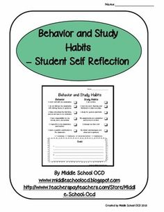 This rubric is designed as a tool for students to use in assessing their own classroom behavior and study habits.  It can be used as they prepare for Student Led Conferences or as a Weekly Report.