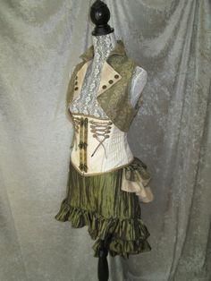 Georgina Steampunk Vest  18 Colors  Sizes by ClockworkFaerieWear, $49.00