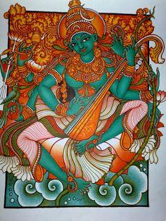 and Philosophy: Kerala Mural PaintingsArt,Technology and Philosophy: Kerala Mural Paintings Kerala Mural Painting, Tanjore Painting, Fabric Painting, Painting Art, 3 Canvas Paintings, Indian Art Paintings, Canvas Prints, Royal Art, Ganesha Painting