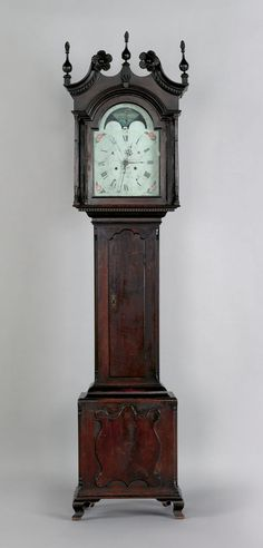 ♥♥♥ the clock of my dreams...  Montgomery Co., Pa. Chippendale walnut tall case clock, late 18th c.