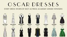 This Infographic Shows Every Best Oscar Dress Since 1929 - Cosmopolitan.com