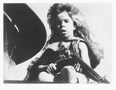 Again, AWESOME rear promo picture of Emil Minty -  a.k.a. The Ferral Kid - Mad Max 2 - The Road Warrior