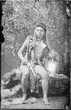 Shoshone warrior Holding a Pistol - 1884