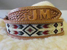 Hand made special order beaded belt. by Deesbeadeddogcollars on Etsy https://www.etsy.com/listing/174563809/hand-made-special-order-beaded-belt