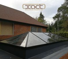 This XACT Aluminium Roof Lantern was installed at a newly renovated property in Hindhead, Surrey as part of an 'orangery' inspired addition. The slim lines this rooflight system allow maximum natural light into the home. #naturallight #rooflantern #skylight #rooflight #roofglass #newbuild #renovation #orangery #extension