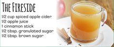 The Fireside 1/2 cup spiced apple cider 1/2 apple juice 1 cinnamon stick 1/2 tbsp. granulated sugar 1/2 tbsp. brown sugar #Cardis #PortsmouthPublickHouse #TheRhodeShow #WPRI12 #drinks #mocktails #winter #holidays