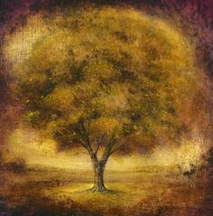 "Saatchi Online Artist mark duffin; Painting, ""purple autumn"" #art"