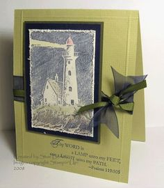 stampin up light the path cards | using Stampin Up A Light Unto My Path | Lighthouse Cards | Pinterest
