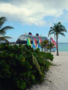 Disney Dream docked at beautiful Castaway Cay!