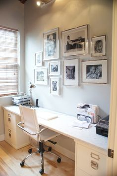 Office modern home office with Ikea Ribba Frame Collage
