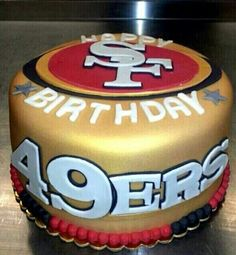 Peachy 38 Best San Francisco 49Ers Cakes Images 49Ers Cake Cupcake Personalised Birthday Cards Cominlily Jamesorg