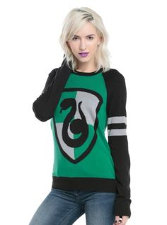 Para-Mujer-Sueter-De-Harry-Potter-Slytherin-Pullover-Camisa-Sudadera-Jumper-XS-3X