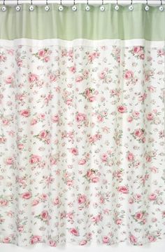 Cottage Colors Ruffle Shower Curtain Pink Roses | The DIY | Pinterest |  Ruffle Shower Curtains, Master Bathrooms And Ruffles