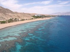 Shoreline of the Red Sea in scuba diving area at the southern tip of Eilat, Israel (אילת, ישראל) #Israel #Eilat #RedSea