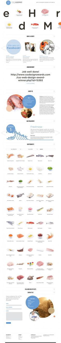 Fresh Harvest Sea #Food and Meat - #Best #website, #web #design #inspiration #showcase www.niceoneilike.com