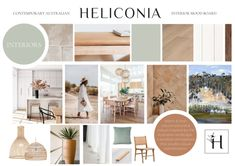 Renovations, New Builds and Interiors on the Northern Beaches of Sydney — Heliconia Mood Board Interior, Interior Styling, Boutique Interior, A Boutique, New Hampton, New Builds, Beautiful Space, Mood Boards, Interior And Exterior