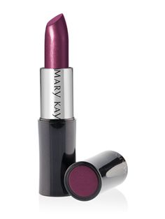 Mary Kay® Creme Lipstick – Black Cherry (Satin).This long-wearing, stay-true formula glides on easily with a lightweight, creamy texture for rich color impact that lasts. Plus, it won't feather or bleed.