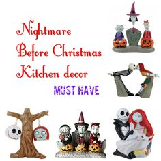 Nightmare Before Christmas Kitchen Accessories and Decor  #nightmarebeforechristmas #christmas #kitchen #holidays