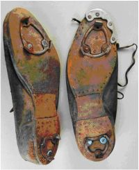 The shoes have been reinforced for pitching. Photo courtesy of Museum of African American History, Boston and Nantucket, MA, USA.