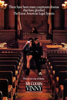 Vinny Gambini: Your Honor, may I have permission to treat Ms. Vito as a hostile witness?  Mona Lisa Vito: You think I'm hostile now, wait 'til you see me tonight.  Judge Chamberlain Haller: Do you two know each other?  Vinny Gambini: Yeah, she's my fiancée.  Judge Chamberlain Haller: Well, that would certainly explain the hostility.