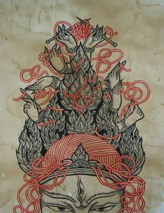 aliceofthedeadtattoo:    ink on paper    There are no words that can express how much I love this.