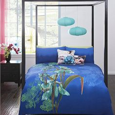 BNIC Debenhams Butterfly Home by Matthew Williamson Blue Iris Bedding Set Bedroom Furniture, Home Furniture, Diy Bedroom, Interior Design Boards, Matthew Williamson, Bedding Sets, Beautiful Homes, Debenhams, Iris