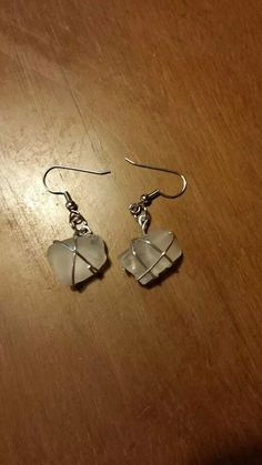 Hey, I found this really awesome Etsy listing at https://www.etsy.com/listing/196471698/wire-wrapped-seaglass-earrings